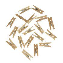 Pinces décoratives en bois 2.5cm naturel 300p