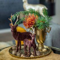 Tasse décorative avec anses dorées Ø11cm H17.8cm aspect antique