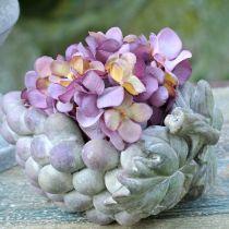 Bol déco raisins gris violet crème 19 × 14cm H9,5cm