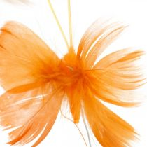 Papillons dans les tons orange, décoration de printemps Papillons de printemps sur un fil 6pcs