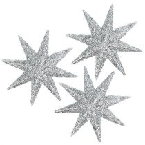 Étoiles décoratives argent Ø5cm 20pcs