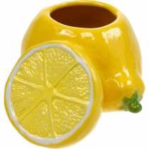 Pot décoratif vase citron agrumes en céramique décoration estivale