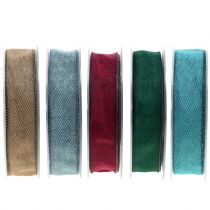 Ruban décoratif coloris au choix 25 mm 20 m