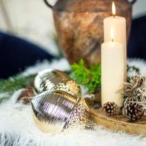 Gland décoratif en céramique doré décoration de table Noël 13,5cm 2pcs