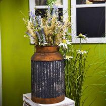 Pot à lait déco déco jardinière métal look vintage déco jardin H35cm