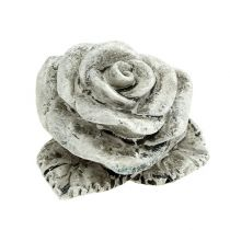 Roses décoratives miniatures 4 cm gris 12 p.