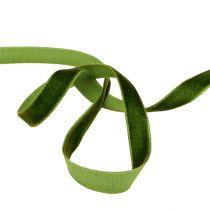 Ruban décoratif Velours vert foncé 10mm 20m