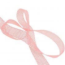 Ruban décoratif dentelle 21 mm 20 m rose