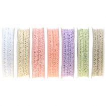 Ruban décoratif dentelle au crochet 12 mm 20 m