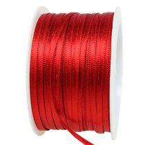 Ruban cadeau et décoration 3mm x 50m rouge clair