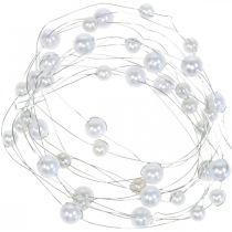 Fil décoratif, collier de perles pour la décoration, décoration de mariage, ruban de perles, guirlande 2,5 m