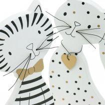 Figurine décorative chat, décoration de magasin, figurines de chat, décoration en bois 2 pièces