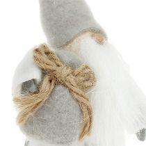 Figure à décorer Santa Claus 13cm gris, blanc 2pcs