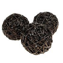 Boule décorative Ø 12 cm brun foncé 6 p.