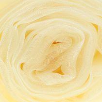 Tissu de décoration en organza crème 150 x 300 cm
