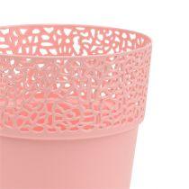 Pot de Décoration Plastique Rose Ø13cm H13,5cm 1pc