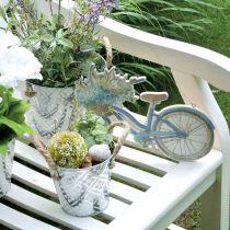 Pot décoratif en métal, cache-pot à motif fleuri, vase en métal à planter Ø20,5cm