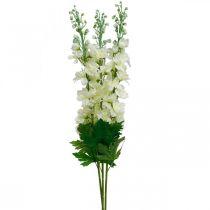 Delphinium blanc artificiel fleurs en soie delphinium fleurs artificielles 3pcs