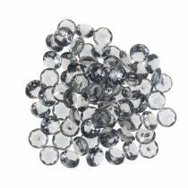 Pierres décoratives diamant acrylique gris Ø1.2cm 175g Bijoux de mode