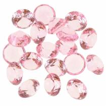 Pierres décoratives diamant acrylique rose clair Ø1,8cm 150g Décoration de table