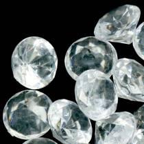 Pierres décoratives diamant clair Ø2.8cm 150g décoration de table