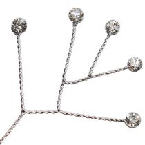 Diamants sur branche brillants 10 cm 12 p.