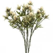 Branche de chardon artificielle crème 10 capitules 68cm 3pcs