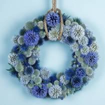 Anneau floral mousse vert Ø25cm 4pcs arrangement de guirlande