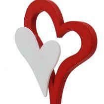 Pique décorative cœur double 28 cm 18 p.