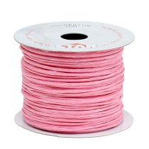 Fil de papier armé 50 m rose