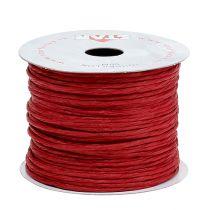 Fil de papier armé 50 m rouge