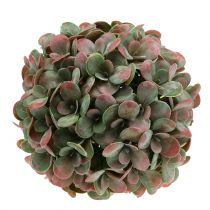 Balle Echeveria vert artificiel, Ø22cm rouge