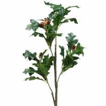 Branche de feuille de chêne avec glands artificiels 90cm