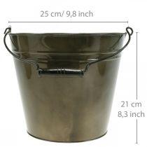 Seau en métal, cache-pot, récipient en métal Ø25cm H21cm