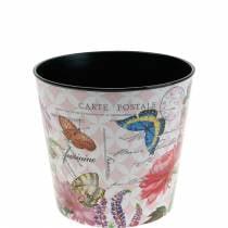 Jardinière motif fleur en plastique 10,5 cm pot de fleur décoration d'été