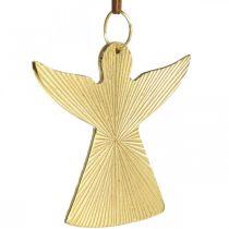 Ange décoratif, pendentif en métal, décoration de Noël doré 9 × 10cm 3pcs
