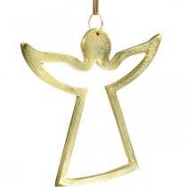 Pendentifs en métal, anges décoratifs, décoration avent dorée 15×16,5cm