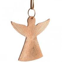 Anges à accrocher, Décorations de l'Avent, décorations métalliques couleur cuivre 9 × 10cm 3pcs