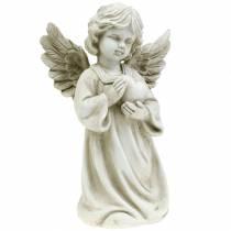 Ange décoratif avec coeur H25cm