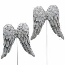 Bouchon décoratif ailes d'ange 10cm 3pcs