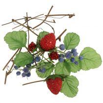 Artisanat mis baies, branches décoratives et feuilles