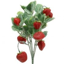 Bouquet artificiel de fraises rouges L. 30 cm