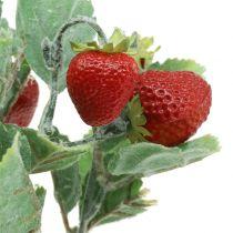 Pic à fraise artificiel rouge L30cm