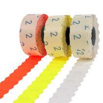 Etiquettes 26x12mm, couleurs diverses, 3 rouleaux