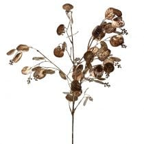 Branche d'eucalyptus artificielle cuivrée 76 cm