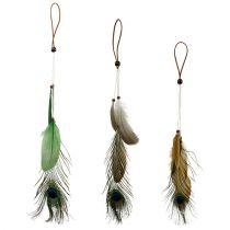 Cintre plume plume de paon 34cm 3pcs