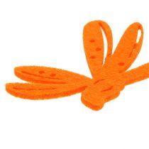 Déco à parsemer en feutrine orange 24 p.