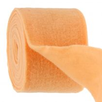 Bande de feutrine orange clair 15 cm 5 m