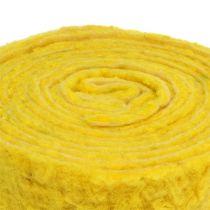 "Bande de feutrine ""Happy"" jaune 7,5 cm 5 m"