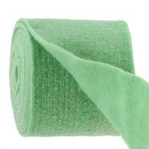Bande de feutrine, habillage pots de fleurs vert clair 15 cm 5 m